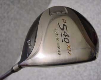 TaylorMade R540 XD 9.5* Driver Golf Club Titanium MAS2 55 Regular Graphite flex-R RH
