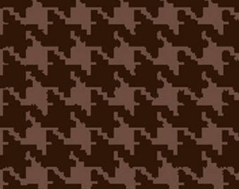 Free Spirit Designer Collection Mini Houndstooth Chocolate Brown Quilting Fabric By The Yard