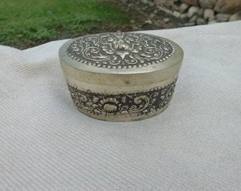 1920-1930 silver jewelry box