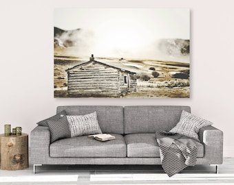 """large canvas wall art, large wall art, large colorful landscape wall art, landscape on canvas, large art, rustic art - """"All That Remains"""""""