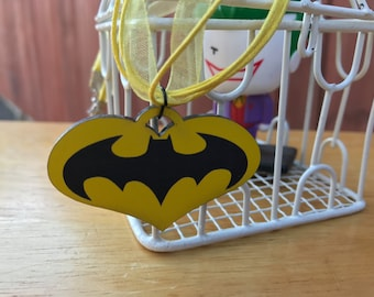 "Batman inspired ""I love Batman"" Necklace"