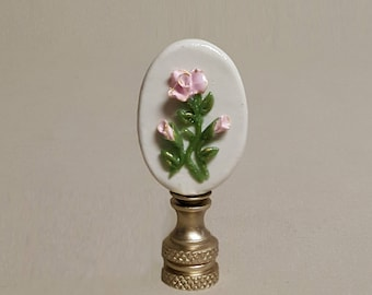 Rose Cameo Lamp Finial... Hand crafted to order