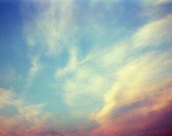 Sunset Photography,  Cloud Sky Landscape Photography, Sunset Art Print, Wall Decor, Cloud Photography