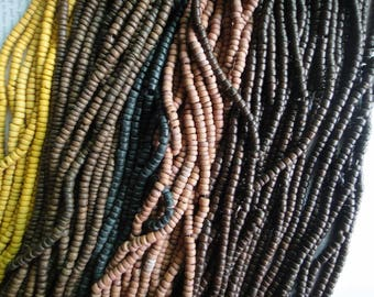 Select your colors - 5mm tumbled coconut heishi beads, 15.5 inch