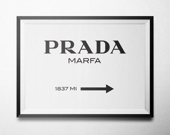 Prada MARFA Printable on White Background