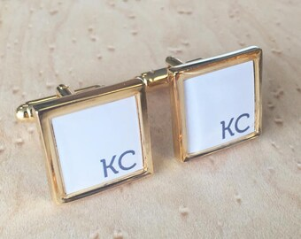 Personalised Corner Initial Cufflinks