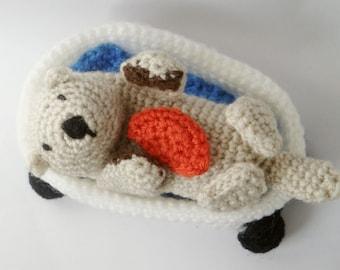 Amigurumi Pattern Crochet Sea Otter & Bathtub