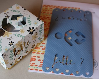 Kit baby game: picks with participatory ballot box