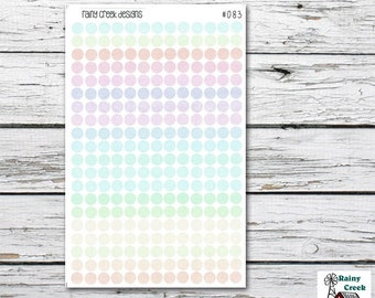 Pastel Mini Dot Planner Stickers/ Bullet Journaling Stickers/ Erin Condren/ Plum Paper/ Happy Planner/ Filofax / Recollections# 083-4