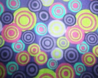 Atmosphere Purple Circles Cotton Fabric #269