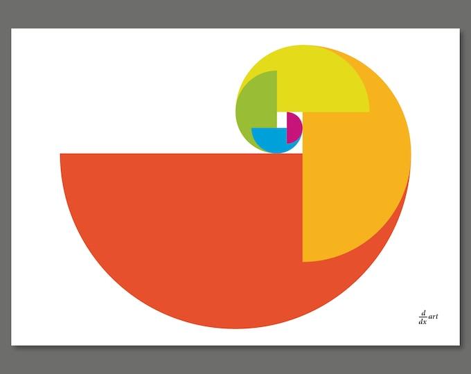 Golden Ratio Parrot 04 [mathematical abstract art print, unframed] A4/A3 sizes