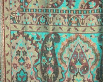 Indian Kashmiri handwoven kani silk jamawar ladies shawl