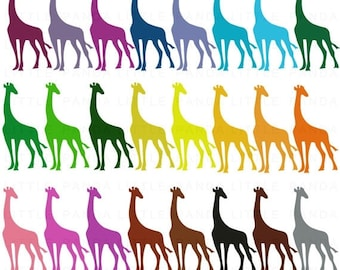 60% OFF SALE Giraffe Clip Art - Personal and Commercial Use - Instant Download - C92