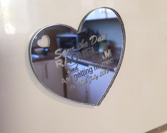 Save the Dates (Magnetic) Mirrored Acrylic