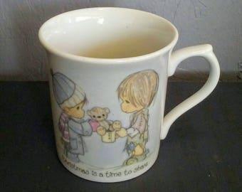 Christmas Mug, Precious Moments, Vintage Mug, Christmas Decoration, Coffee Mug Christmas Coffee Mug, Collectible Mug, Precious Moments Decor