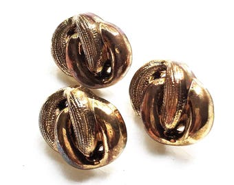 eco friendly antiqued bronze tone plastic 3D chain link design shank buttons--matching lot of 3