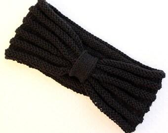 Hand knitted cotton HEADBAND