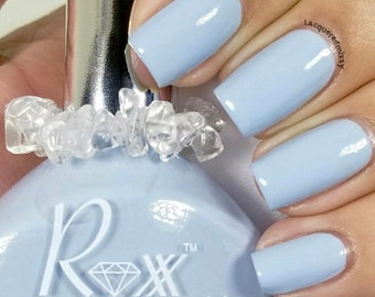 Blue Lace Agate - Serenity - Crystal Infused Nail Polish