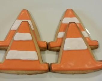 Construction Cone Cookies (1 dozen)