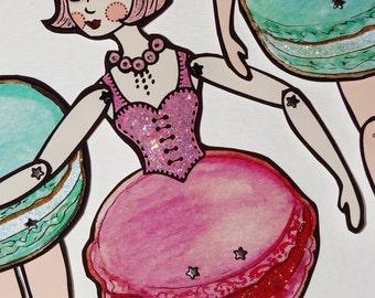 PDF Framboise Laduree Macaron Original Paper Art Puppe