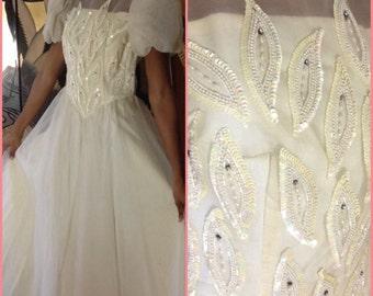 Vintage Chiffon Ballet Wedding Dress