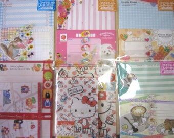 New!! Cute 6 design stationery letter paper envelope sticker kawaii