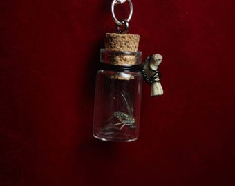 Fly/Bone Jar Necklace.