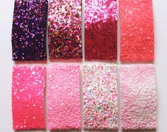 NEW PINK and PURPLE glitter snap clips or alligator clips