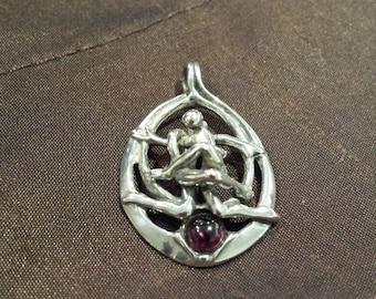 Sterling silver vintage pendant artist made