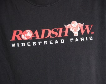 90's WIDESPREAD PANIC roadshow black t-shirt size large