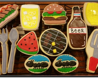 BBQ  Cut Out Sugar Cookies  1 - Dozen