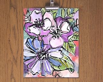 Day 53 - Floral Art Print - Sketchbook Project