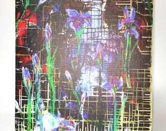 Greeting Card - Iris ~ Oil Painting
