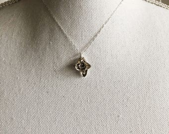 Sterling Silver Cast Succulent Necklace