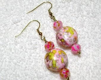 Artsy Earrings - Picasso Earrings - Cotton Candy Jewelry - Dangle Earring - E250