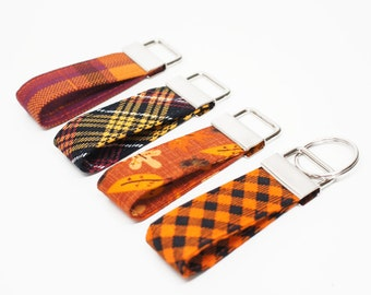 Fall collection Key Chain / Key Fob / Wristlet - Choose Your Fabric and lenght
