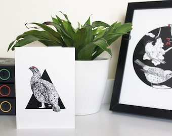 A6 'Red Grouse' Illustrated Greetings Card