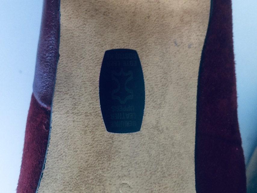 des années 40 pompes à glissent sur des des des talons taille 7 M Dr Mac de Clarks 6768b1