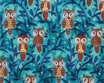 FQ Michael Miller Moonlit Owls  100% Cotton