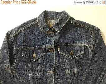 SALE Kids denim jacket, kids jean jacket, kids jacket with patch, Levis kids, kids denim, youth denim