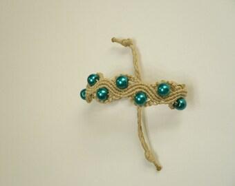 MACRAME BRACELET, BOHO Bracelet, Wavy motifs bracelet