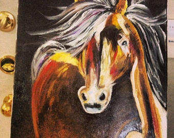 Horse-Original palette knife oil painting on canvas