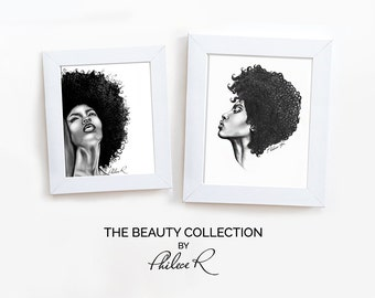 Set of 2 Art Prints - The Beauty Collection