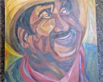 "Inga Gundesen Painting ""The Happy Farmer"""