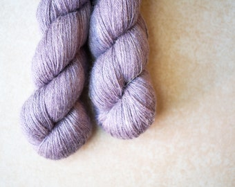 SALE - Alpaca+Silk+Linen sock yarn - hand dyed - OOAK Purple