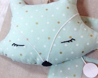 Musical Fox cushion made to order