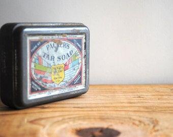 Vintage Soap Box - Tin Container Packer's Tar Soap Vintage Advertising