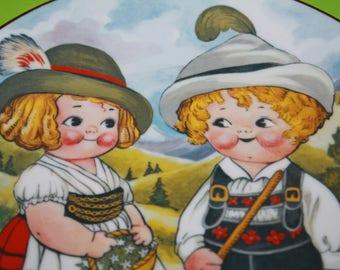 Dolly Dingle Plate Grace Drayton World Traveler Plate Dolly Visits Germany House of Global Art