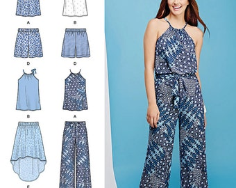 Simplicity Sewing Pattern 1112 Misses' Top, Pants or Shorts and Skirt