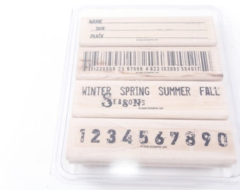 Vintage names and date stamp etsy bar code winter spring summer numbers name date down to business colourmoves Gallery